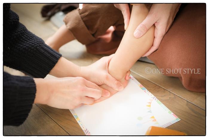 名古屋 出張撮影 女性カメラマン 家族写真 手形足形アート
