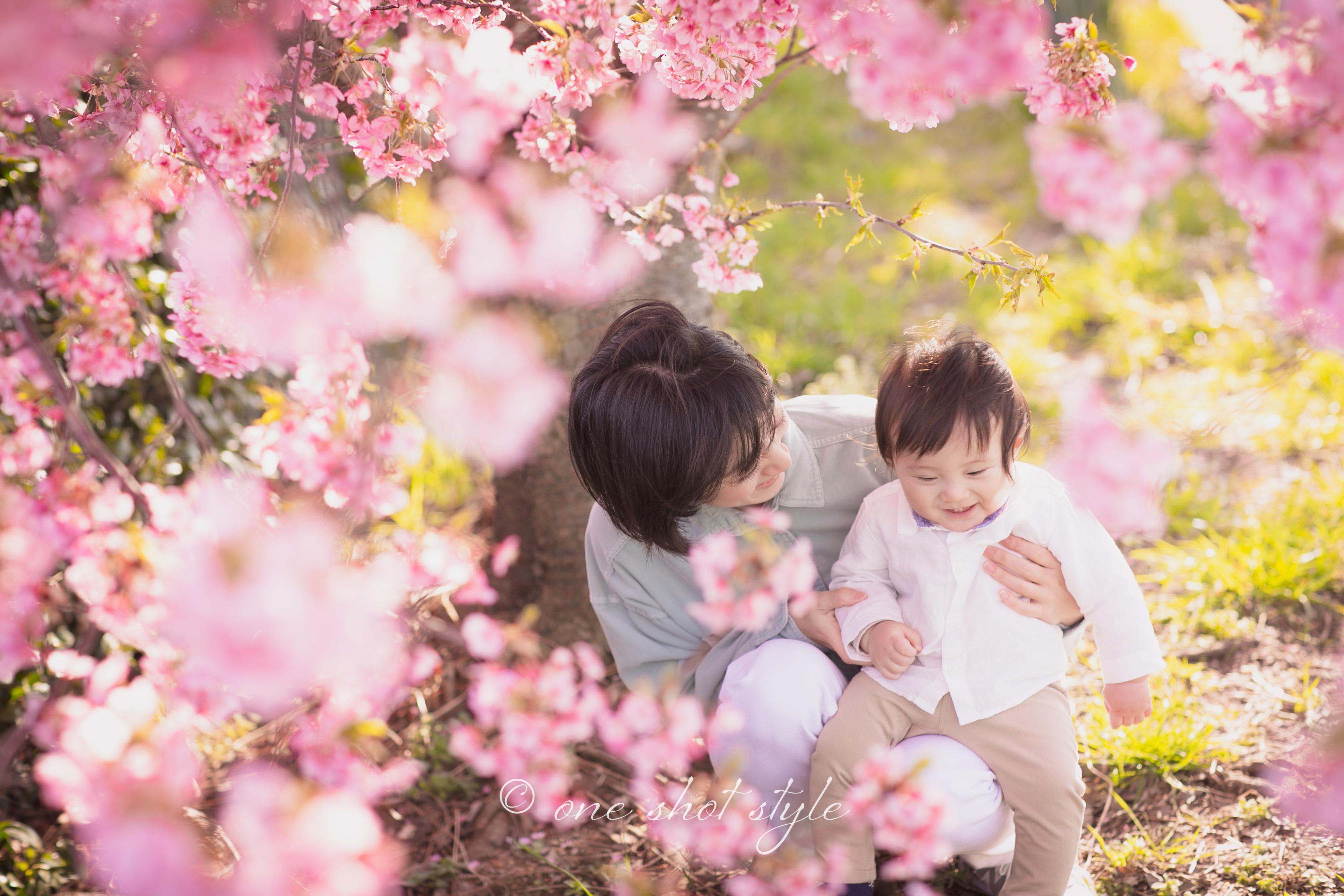 河津桜 愛知 名古屋 岡崎 撮影会 家族写真 ロケーションフォト